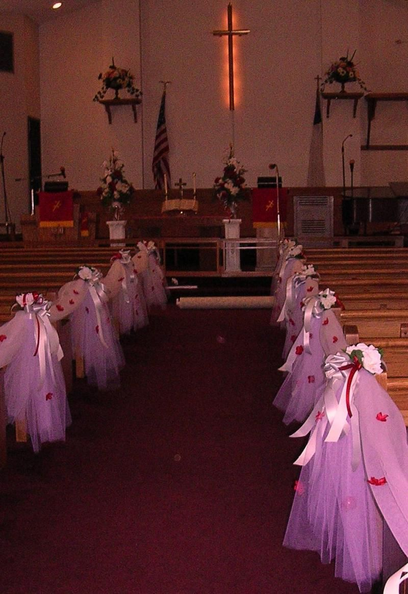 Of Wedding Decorations In Church Church Wedding Decorations Cleona Carol Designs Etc Llc