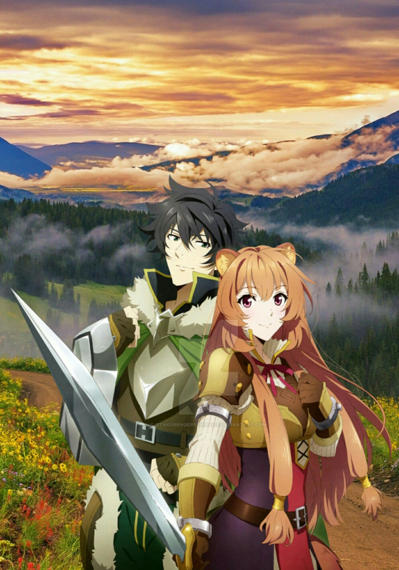 Naofumi E Raphtalia Anime Tate No Yuusha Personagens De Anime