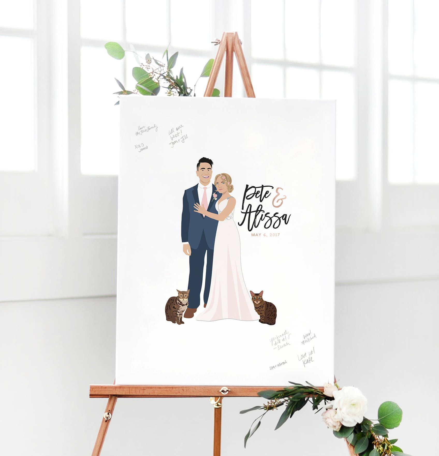 Wedding Guest Book Alternative Canvas Guest Book Idea with Portrait ...