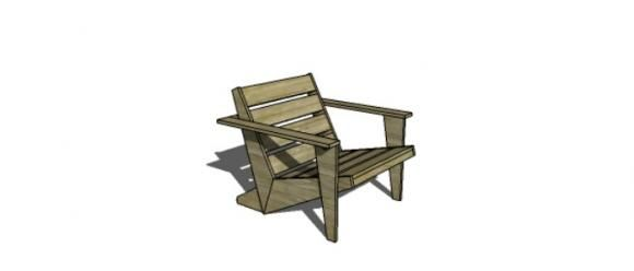 Free Woodworking Plans To Build A CB2 Inspired Sawyer Adirondack Chair
