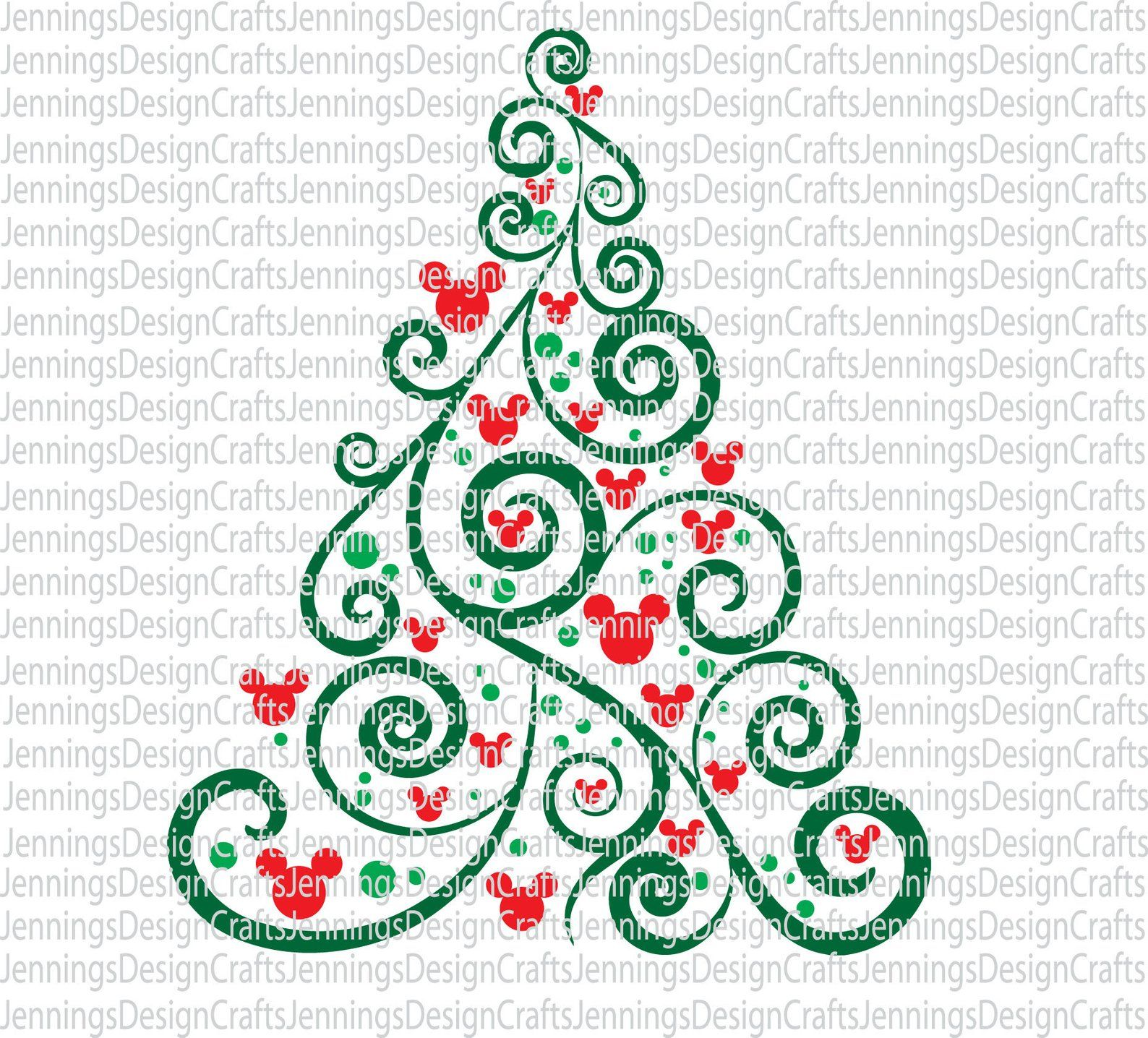 Mickey Mouse Christmas Tree SVG Etsy Mickey mouse