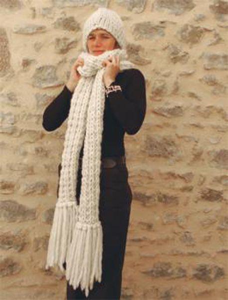 tricoter une echarpe xxl. Black Bedroom Furniture Sets. Home Design Ideas