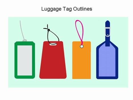 Luggage Tag Clip Art  Luggage Tag Template  Print