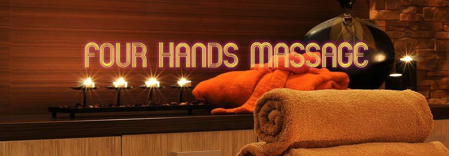 hands ending happy Four massage