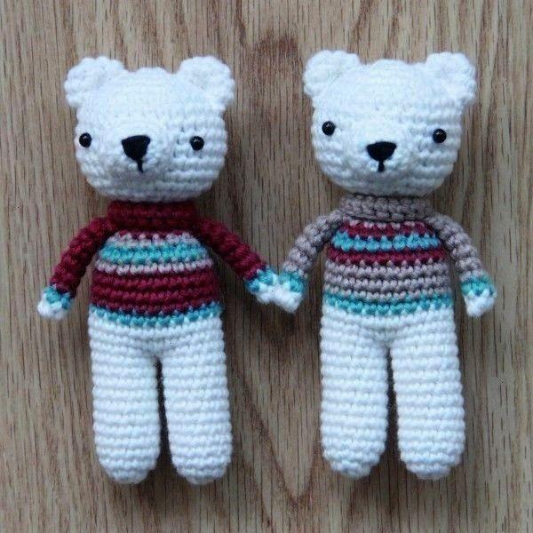 Bear Crochet Amigurumi Pattern  polarbearfreeamigurumipatterngroundtwobears Free Polar Bear Crochet Amigurumi Pattern  polarbearfreeamigurumipatterngroundtwobears Get som...