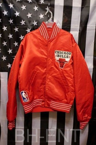 91002c39355bbd Vintage Red Chicago Bulls NBA Starter Jacket Michael Jordan Flight ...