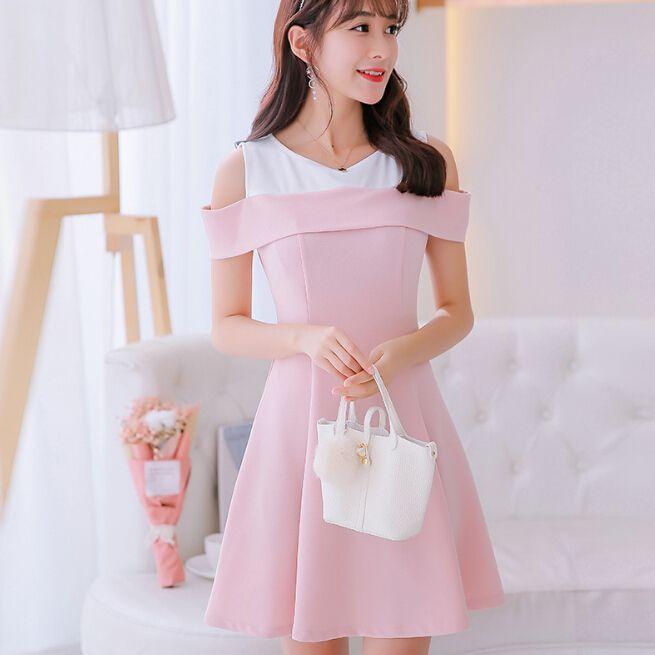 korean summer dress women clothing cute slim show thin