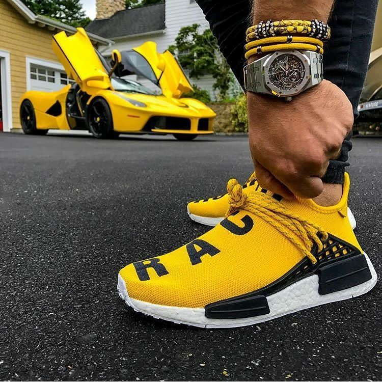 new product d27f0 a67fb Issa match! Yellow @adidasoriginals X @pharrell Human Races ...
