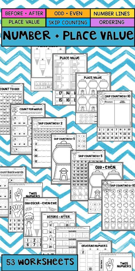 Number and Place Value Worksheet Mega Pack | Worksheets, Number ...