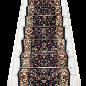 Best Persian Navy Blue Stair Runner Stair Runner Stair 640 x 480