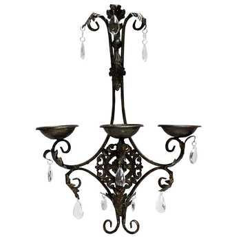 Antique Brown Metal Ornate Wall Sconce Wall Candle Holders