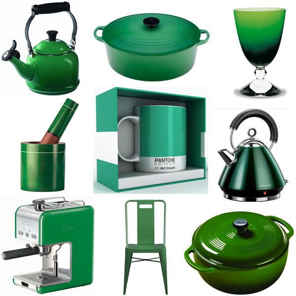 Charmant Emerald Green Kitchen Accessories