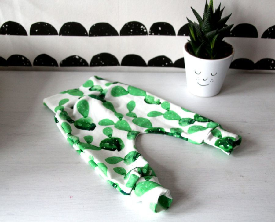 fabric with cactus print