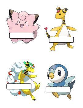 Pokemon door decorations- editable   Reslife   Pinterest ...