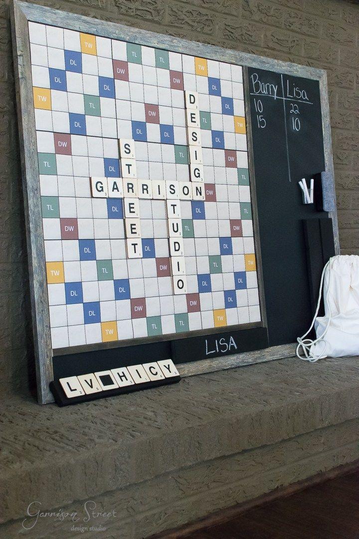 DIY Giant Word Game with Printable Game Board Printable