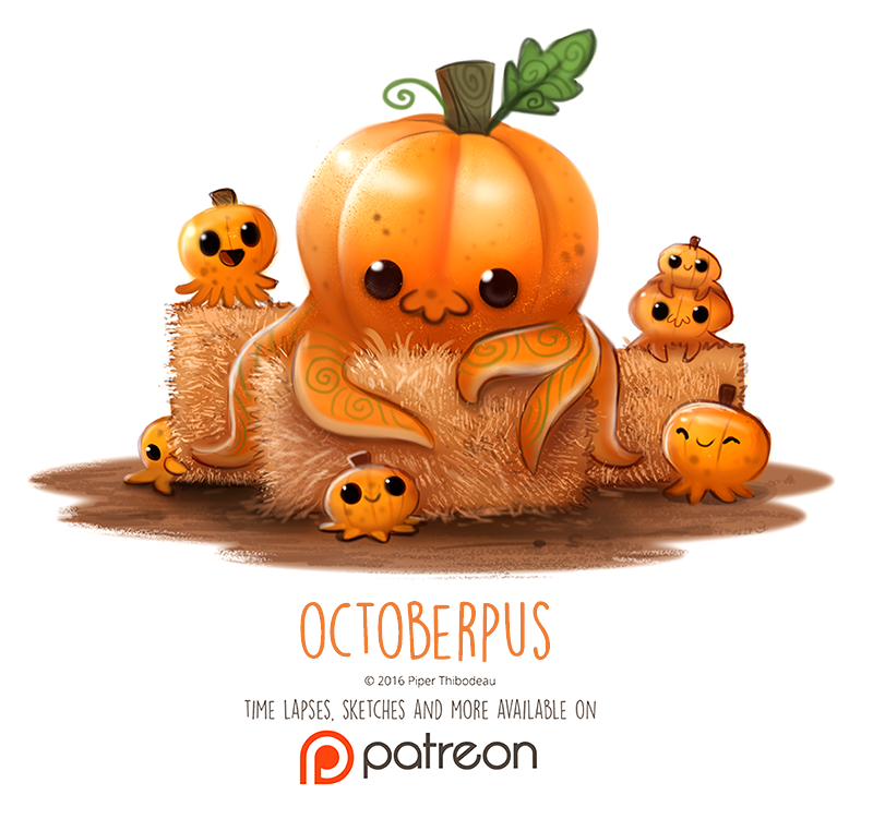 Day 1414. Octoberpus By Cryptid-Creations Time-lapse, High