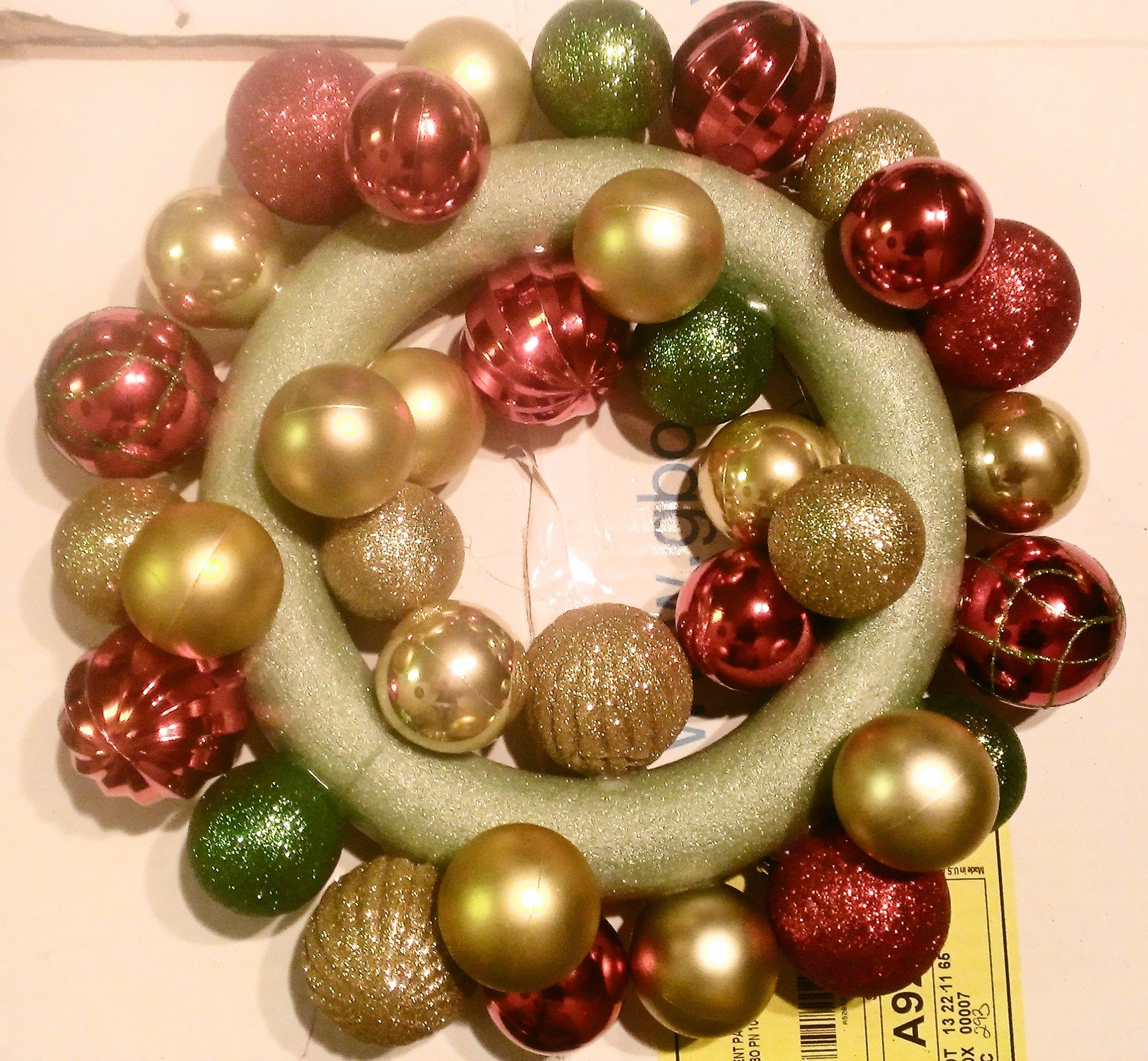 DIY Dollar Tree Ornament Wreath Ornament wreath