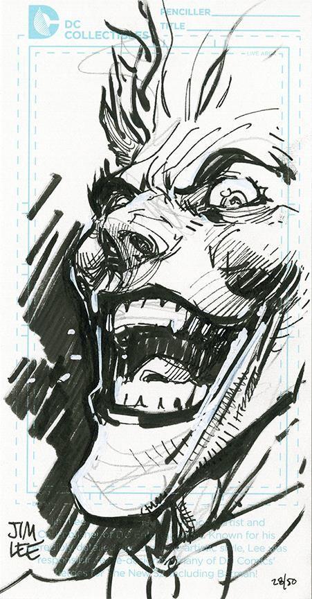 The Joker By Jim Lee Art Vault Jim Lee Art Joker Drawings Comic Books Art