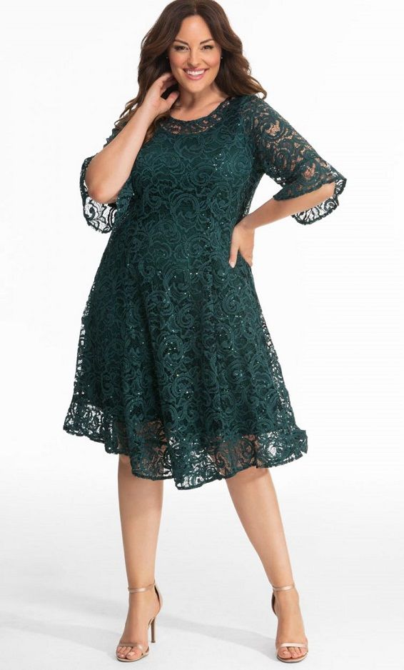 new release official store top design Plus Size Long Sleeve Lace Dresses - Find The Perfect Style ...