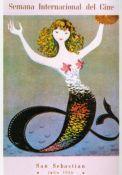 San Sebastian & International Film Festival poster 1956