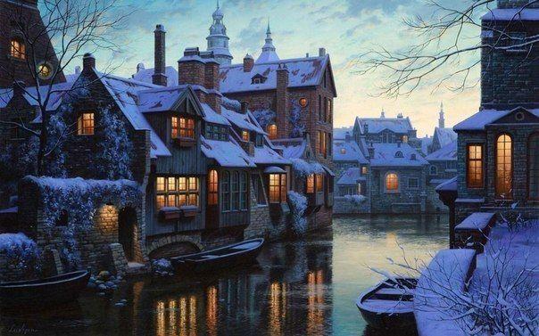 Winter Bruges, Belgium.