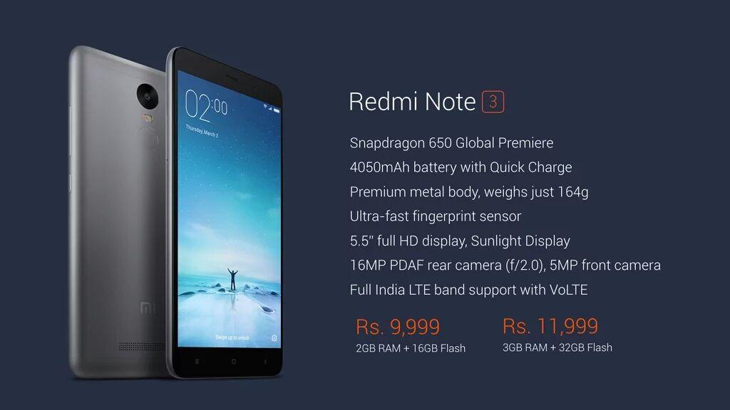 Xiaomi Redmi Note 3 Launched In India Price Specs And More Xiaomi Camera F Samsung Galaxy Phone