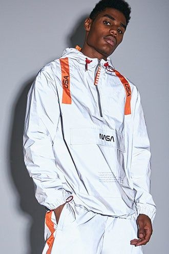 ad7045423 NASA Graphic Reflective Anorak | Products in 2019 | Fashion, Cute ...