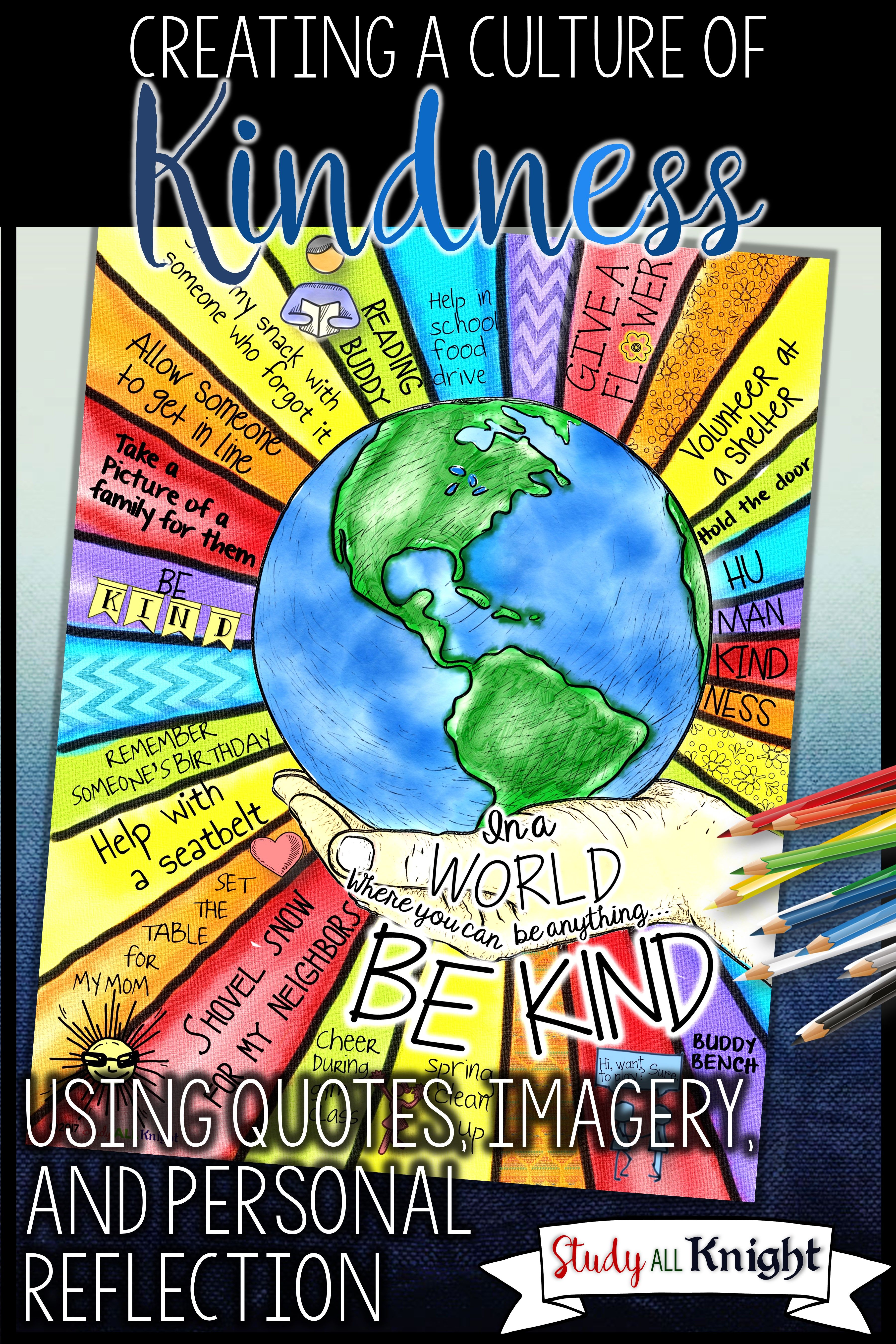 Creating a kindness culture in the classroom can be easy with this creating a kindness culture using quotes imagery and reflection study all knight biocorpaavc Gallery