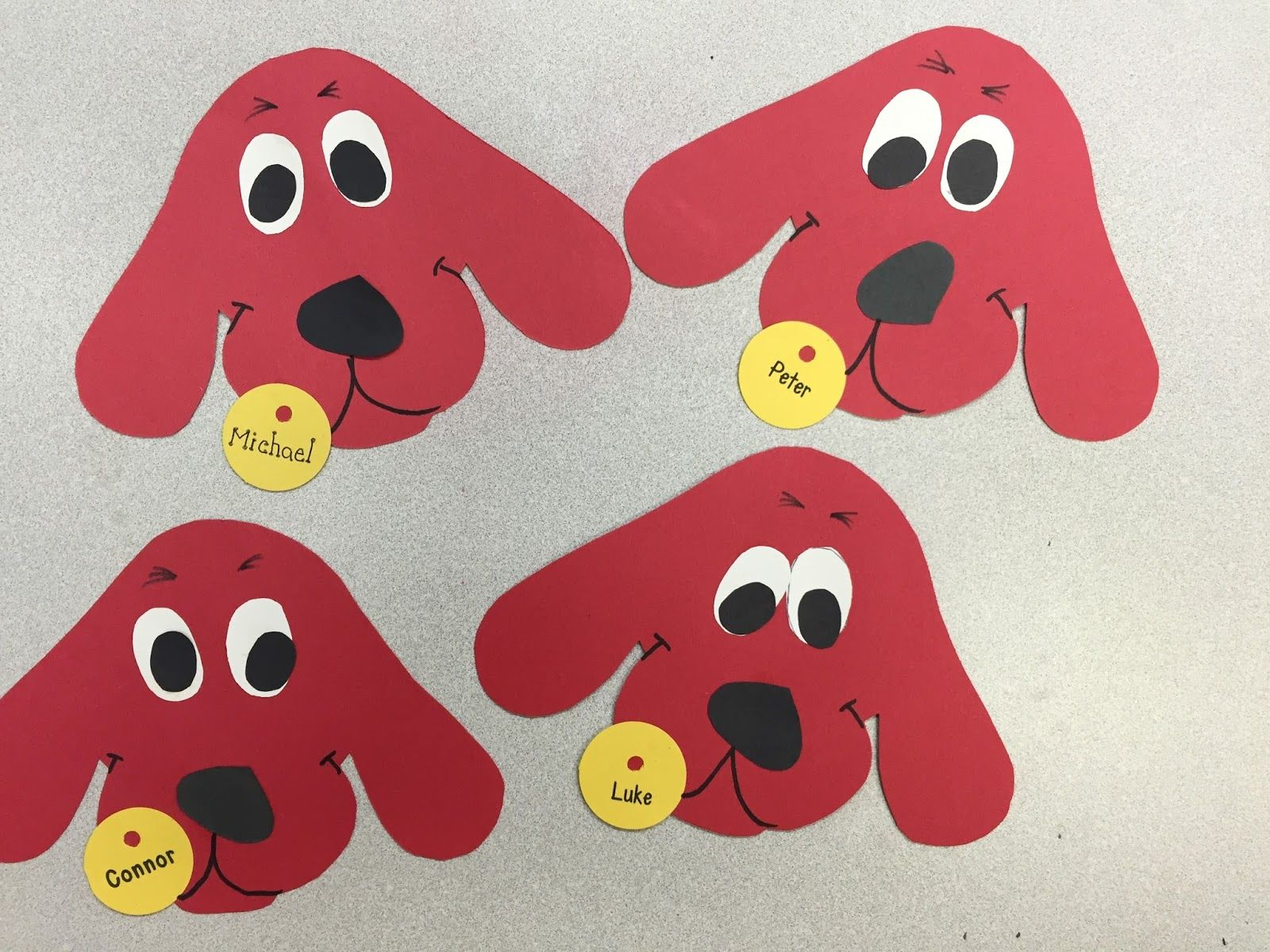 Clifford The Big Red Dog Craft Terrific Preschool Years