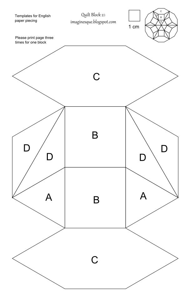 english paper piecing free patterns - Google Search