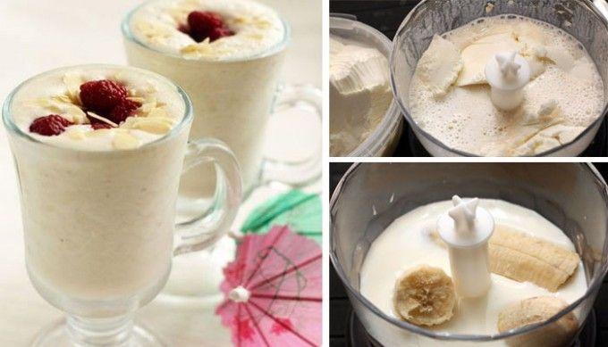 Banánový Milk Shake se zmrzlinou | NejRecept.cz