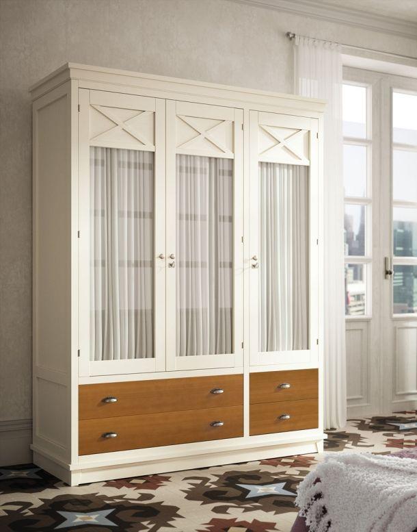 Armario 3 puertas con cortina armaris en 2019 for Cortinas para armarios empotrados