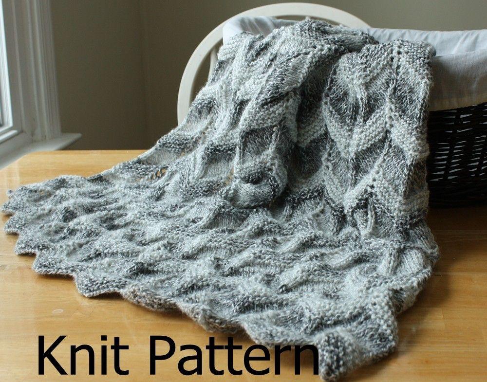 Knit Baby Blanket Pattern, knit chevron baby blanket pattern, baby ...
