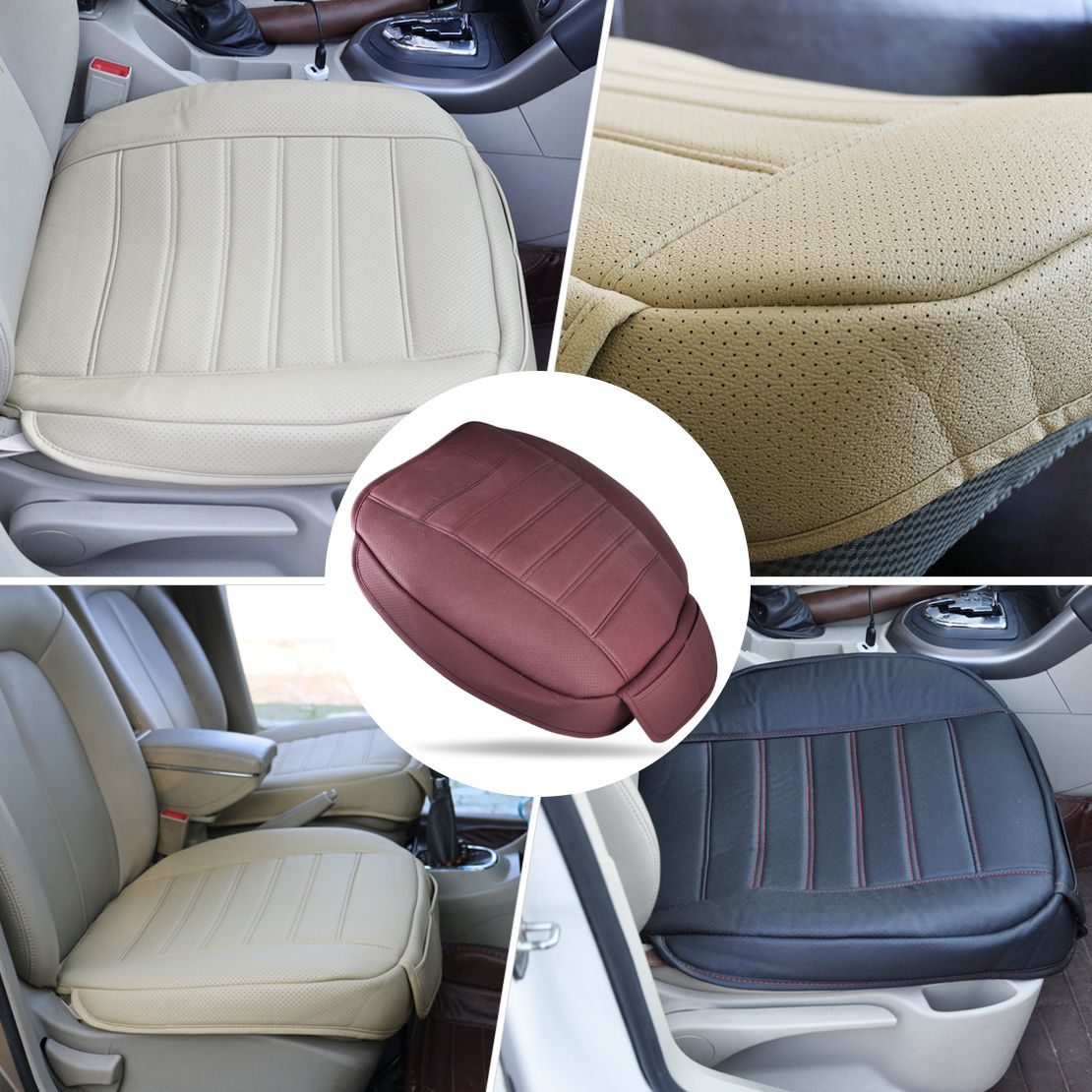 1 قطعة جديد العالمي بو الجلود الجبهة مقعد وسادة غطاء السيارة الداخلية واحدة Seatpad ل Vw Golf Audi A4 Car Interior Leather Car Seat Covers Seat Cushion Covers