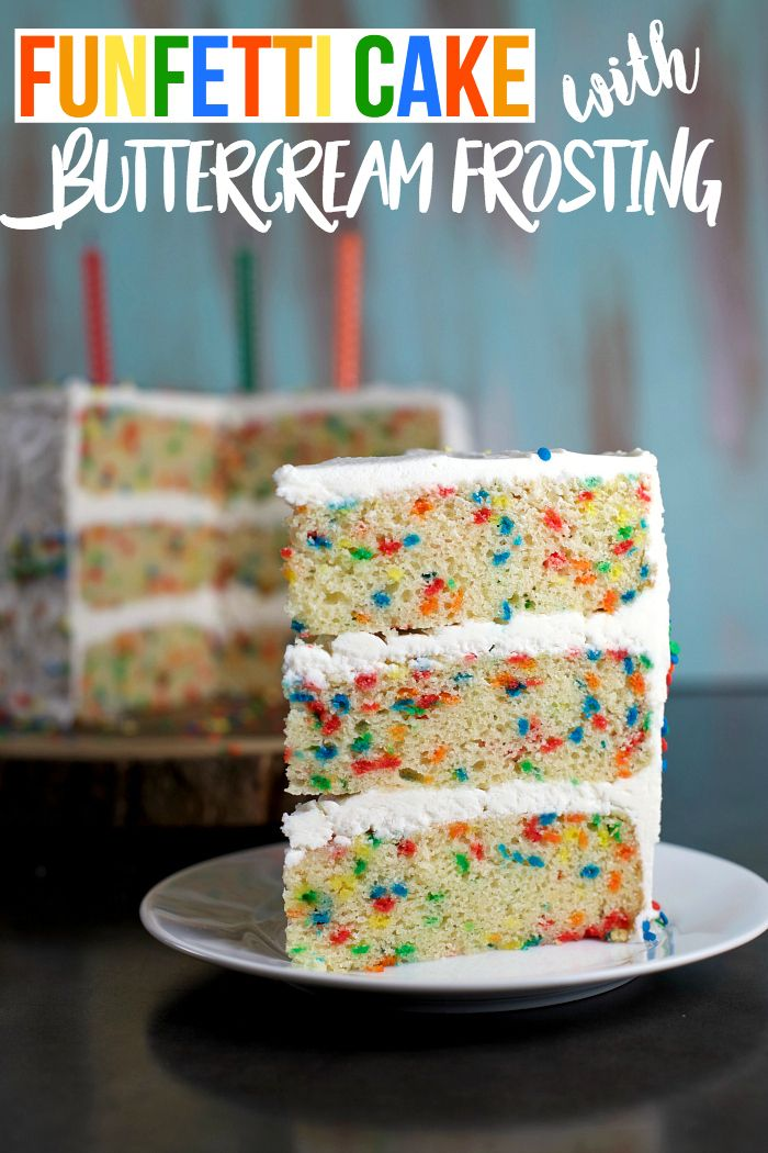 Funfetti Cake with Buttercream Frosting Recipe Posts Sprinkles