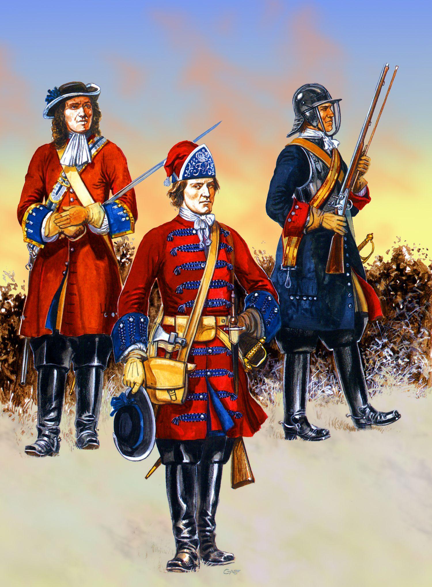 British Horse Regiments at the Battle of Sedgemoor, 1685