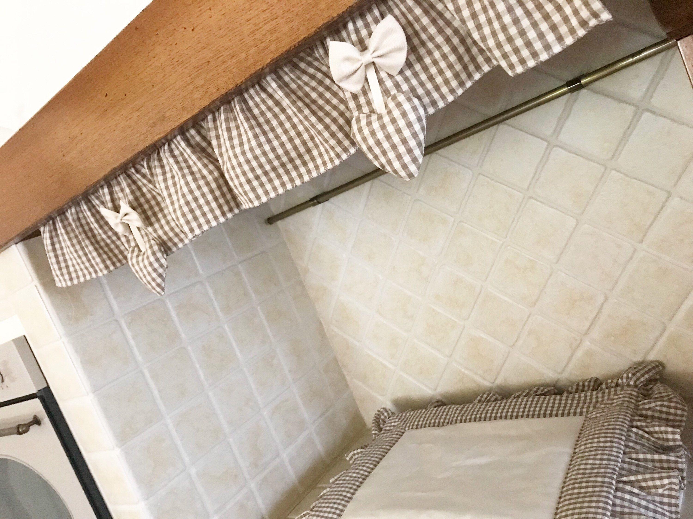 Tenda Mantovana per cappa cucina | Nell\'Essenziale | Mantovane tende ...