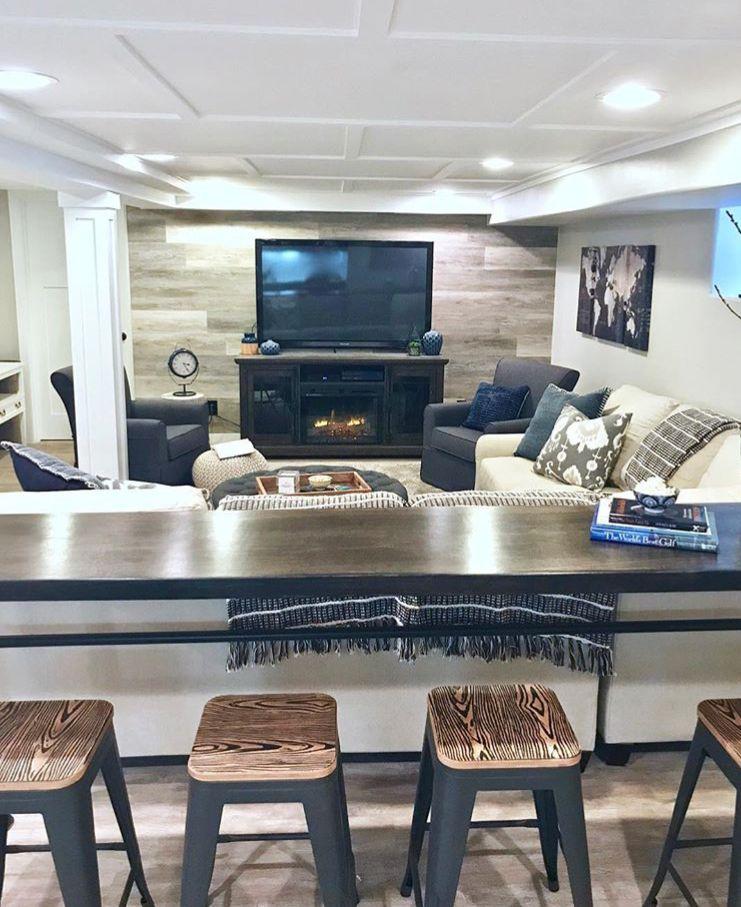 Basement Remodeling, Bar Table For Basement
