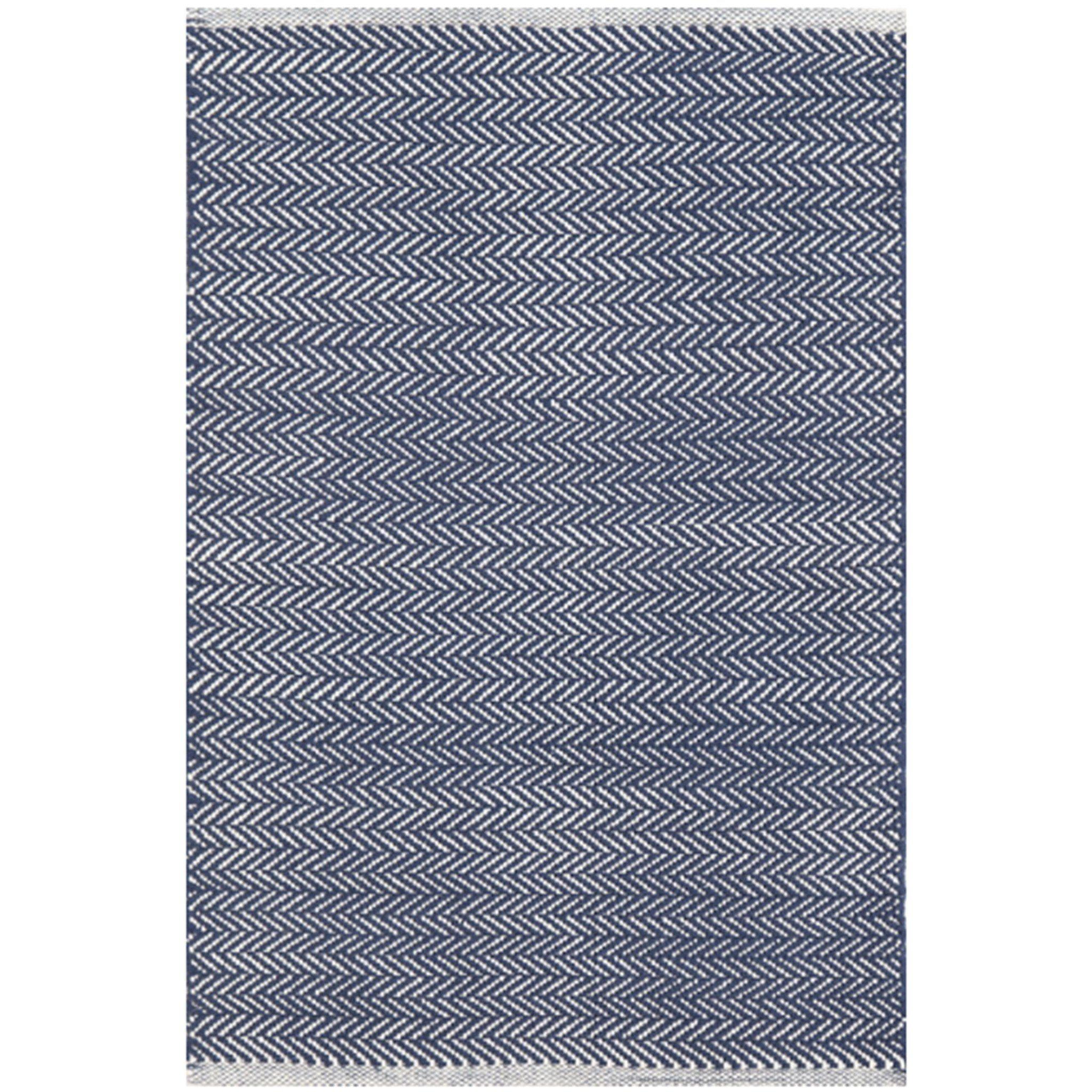 Herringbone Woven Cotton Rug