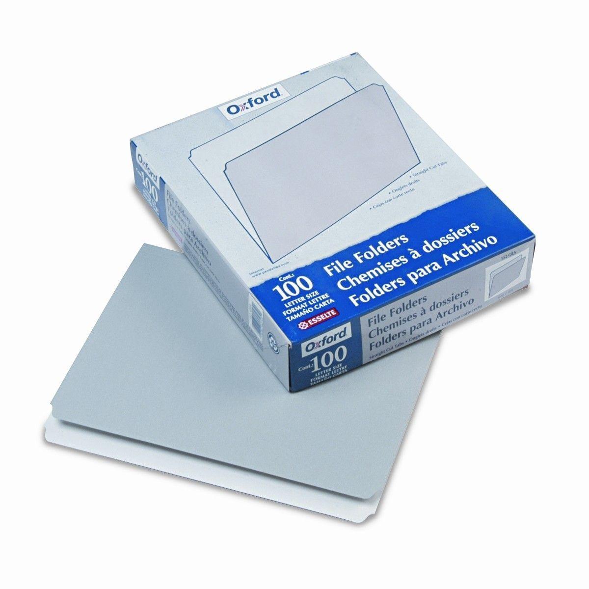 Two-Tone File Folders, Straight Cut, Top Tab, Letter, 100/Box