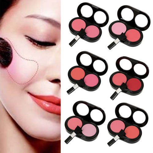 Material: Rouge Colour: As the picture Size: Blusher: 8.5cm * 5cm * 1.5cm Quantity: 1 x Blusher Dual colors blusher. Rich fine powder particles apply even and fresh. Its special design will make you l