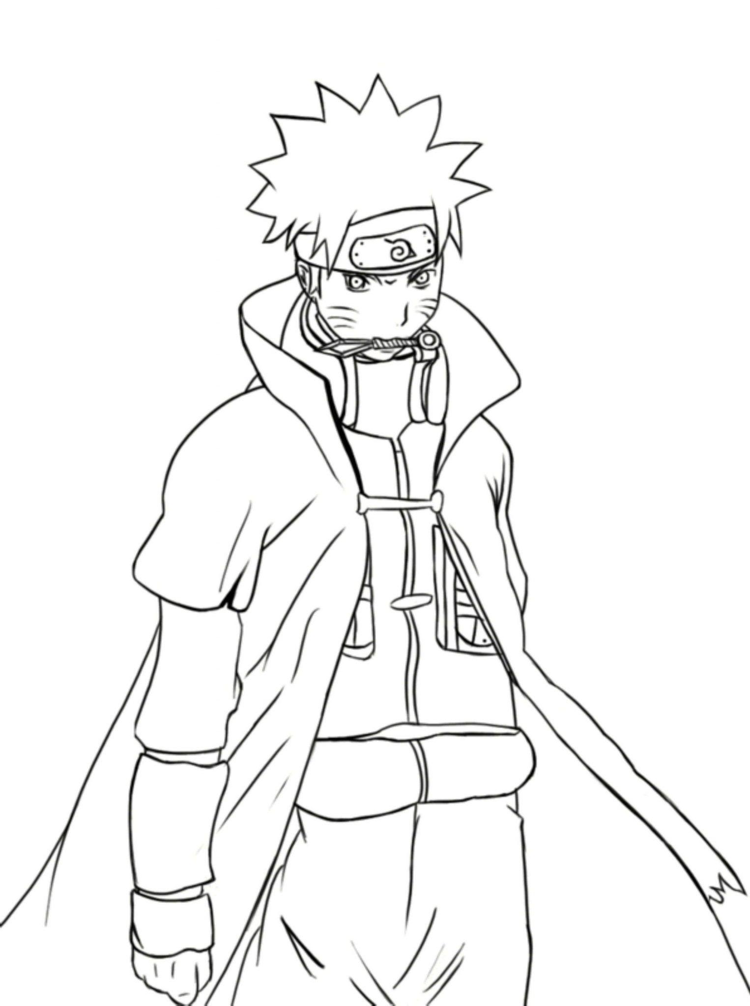 Naruto Shippuuden Coloring Pages Printable Cartoon