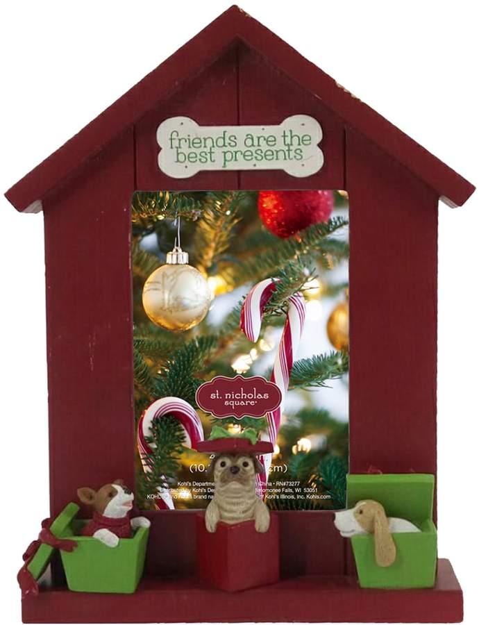 St Nicholas Square Dog House 4 X 6 Christmas Frame Products