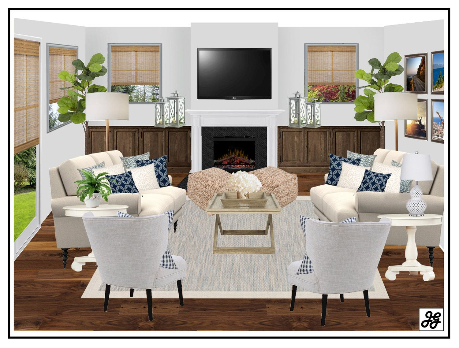 Living Room Design Concepts Endearing Coastal Living Room Design Concept Modern Farmhouse Living Room Design Decoration