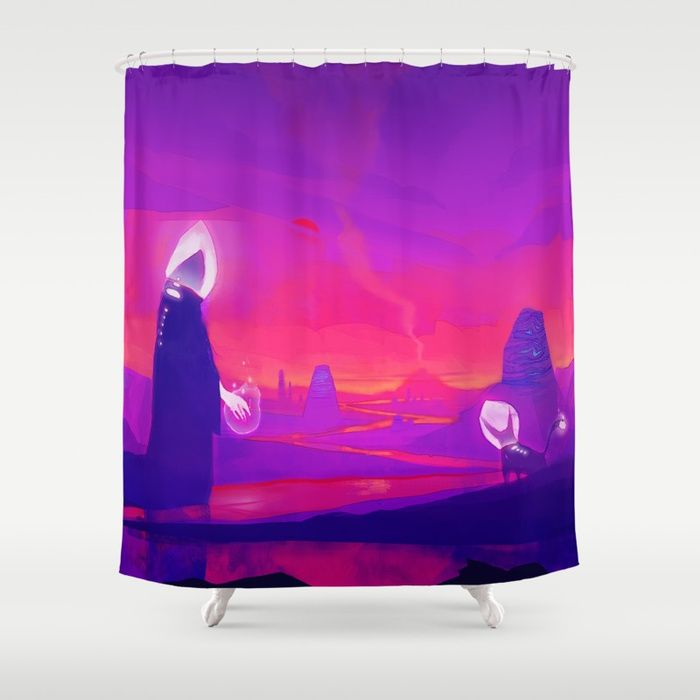 Buy Alien Planet Shower Curtain By Phazed Worldwide Shipping Available At Society6