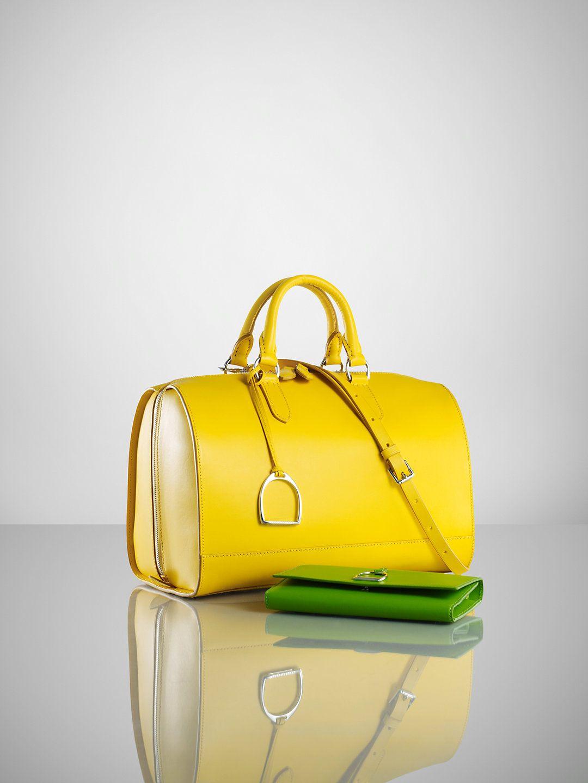 Looks like the Speedy from Louis Vuitton - Vachetta Stirrup Boston Bag - Ralph  Lauren Handbags Handbags - RalphLauren.com -  1 3f09bb387cf5a