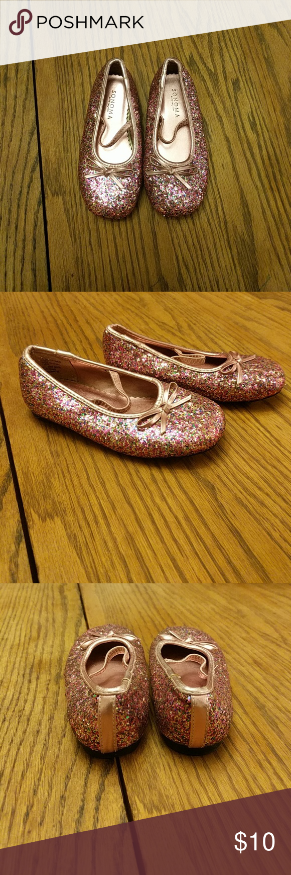 Sonoma slippers! Super cute, barely worn, too cute not to post glitter slippers! Shoes