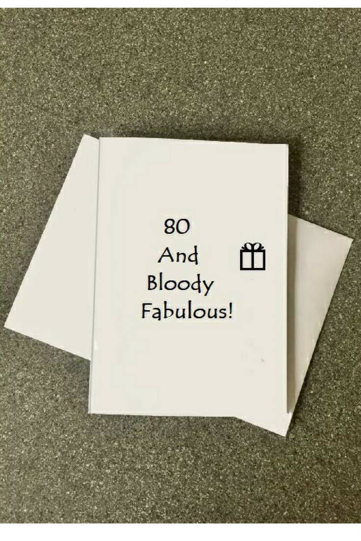 80th Birthday Card80th Card Funny80th Handmade80th Homemade80th For Mom80th Mum