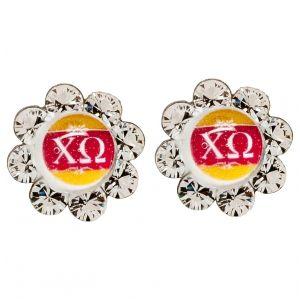Chi Omega earrings