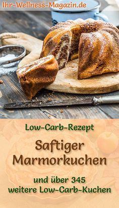 Saftiger Low Carb Marmorkuchen - Rezept ohne Zucker